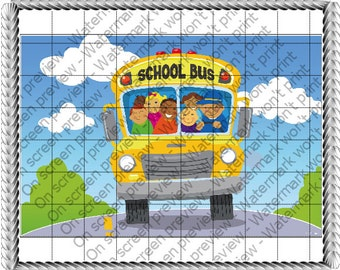 SCHOOL BUS Edible Image
