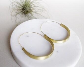Mod Hoop, Modern Gold Hoop, Modern Gold Earring, Gold Hoop Earring, Modern Hoop Earrings, Minimalist Earrings, Minimal Earrings, Hoops
