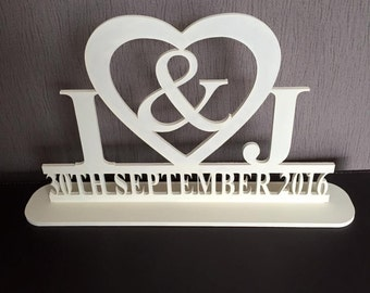 Wedding initials and date
