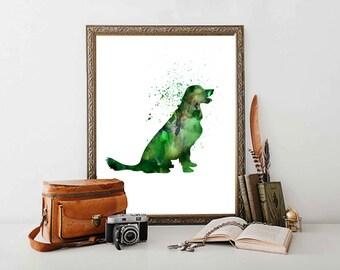 Golden Retriever Dog Printable Golden Retriever  Art Pet  Wall  Art Pet shop art Wet Clinic Decor