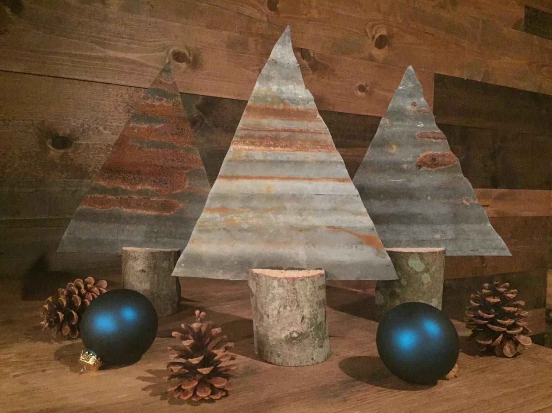 Christmas tree rusted metal industrial