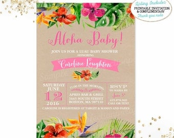 Luau Baby Shower Invitations gangcraftnet