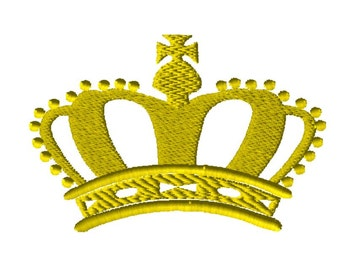 Crown Embroidery Design INSTANT DOWNLOAD 4x4 5x7 6x10