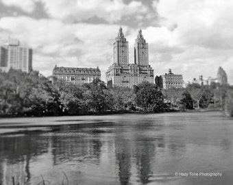 NYC Photography, New York City, Central Park, Photography Print, Black and White, Wall Art, New York Photo, Building Picture, 8 x 10 Print