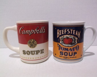 Campbell's Soupe & Campbell's Beefsteak Tomato Soup Mugs