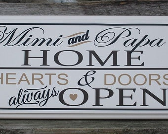 Mimi and papa signs-gifts for Mimi-Mimi gift-Mimi sign-nana gift-gift for nana-pop pop gifts for grandparents-parents-nana sign-grandma gift