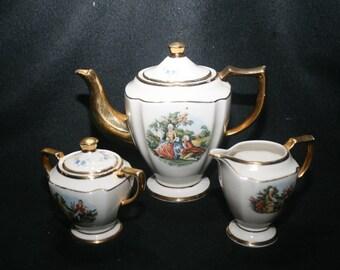 KingWood, USA, Vintage Teapot, Creamer, Sugar Bowl Set