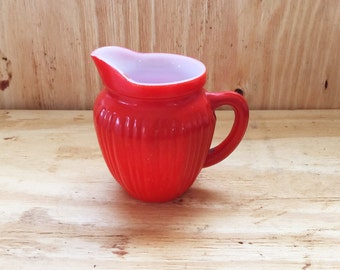 Hazel Atlas Platonite Creamer Red/Orange Vintage