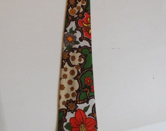 Vintage Flower Power Tie Novelty Necktie