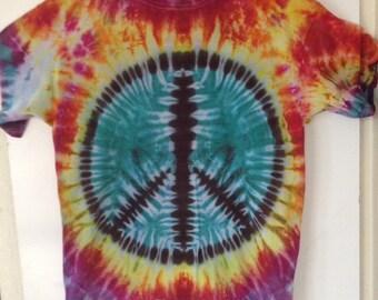Peace Sign Tie Dye T-Shirt