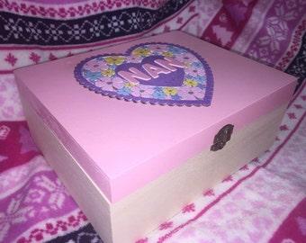 Handmade 'Nan' keepsake / memory box