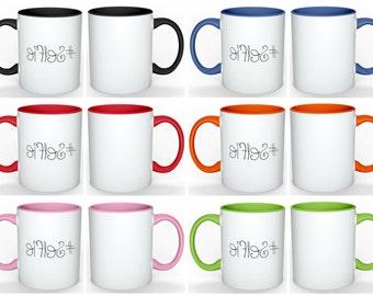 10oz Ceramic Coffee Mug | Colored coffee mug | #Selfie mug | Gift for Her | Hashtag Selfie