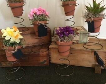 Bed spring flower pot