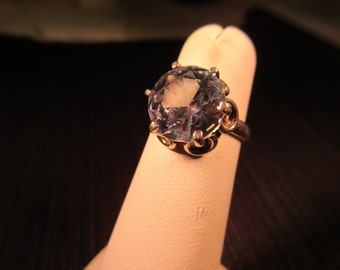 Cool Trendy Sterling Silver Pale Blue Gemstone Ring - 5