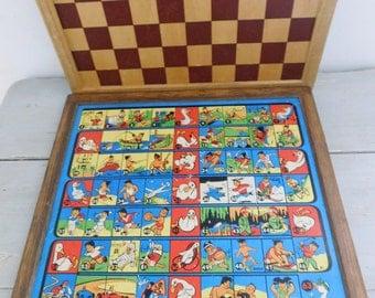 Vintage board games box  French board games  Nain Jaune game  Vintage games box set