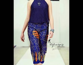 New Collection | Embellished Ankara Shorts | ANKARA PRINT CAPRIS | Print Shorts with Pockets