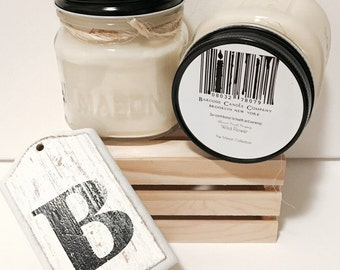 Wild Flower- B A R C O D E Soy Candle