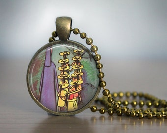 Madeline Pendant Necklace or Keychain
