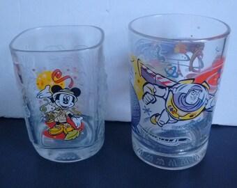 Lot of 2 Walt Disney World Mickey Mouse Buzz Lightyear Aladdin Beauty and the Beast Glasses
