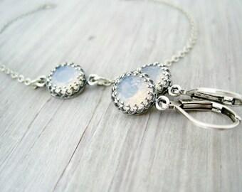 bridal jewelry set bridal earrings bridal bracelet antique silver bridal jewelry vintage wedding jewelry set antique silver crystal