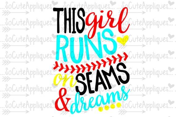 Seams Amp Dreams Baseball Sister Svg Softball Mom Svg