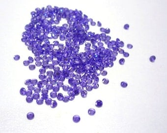 30 Violet/Purple, Round, 2mm Cubic Zirconia Loose Stones