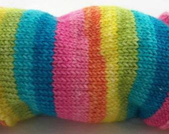 Cushions, Cats and a Couch Potato - Hand Dyed Self Striping Sock Yarn