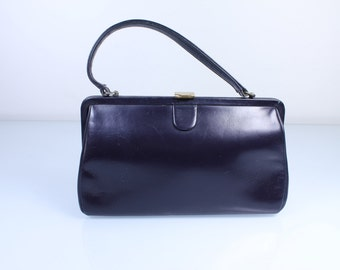 Midnight Blue 1950s Purse