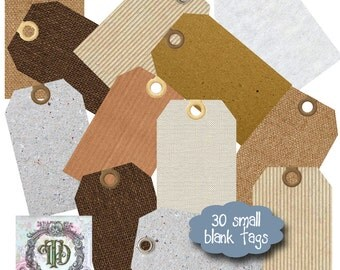 30 Small Blank Tags