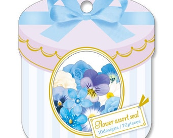 Beautiful Flower Flake Stickers Bag 70 pcs - Translucent Flower Flake Sticker Set