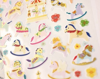 Lovely Carousel Stickers 1 Sheet - 3D Carousel Stickers