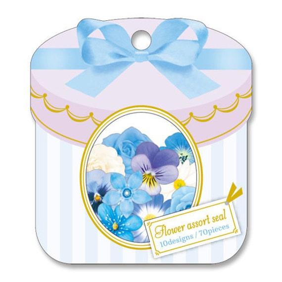 Beautiful Flower Flake Stickers Bag 70 pcs