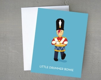 Little Drummer Bowie | David Bowie Christmas | Christmas Card | Funny Card