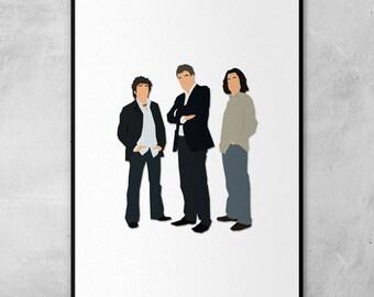 Top Gear | Jeremy Clarkson | Richard Hammond | James May | Minimal Artwork Poster