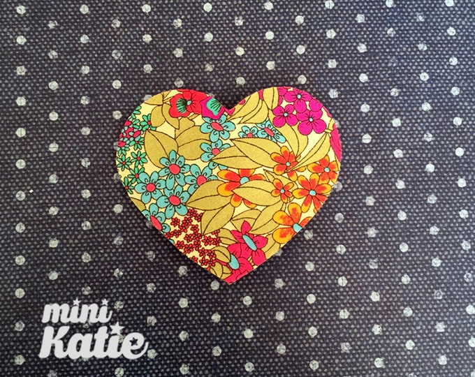 mini Katie Liberty Heart Hair Barrette Hair clip Adorable Glitter hair Accessory for Baby Girls