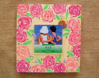 Hand Painted Wood Frame/ Wood Square Frame