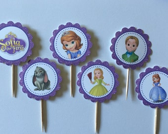 Sophia the First cupcake toppers