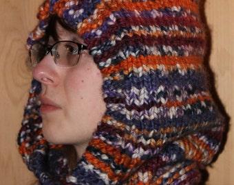 Hoodie - Cowl - Knit Cowl Hoodie - Knit Hoodie - Hand Knit Hoodie Cowl - Knit Hat - Cowl with Hood