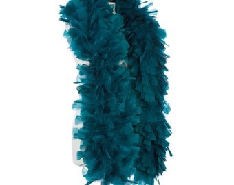 2 Yards TURKEY Feather Boa - TEAL GREEN