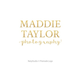 Typography logo premade logo design gold logo text logo photography logo