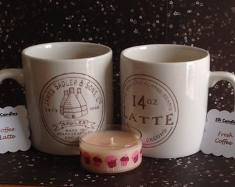 Coffee mug 3 - wick candles..in 2 different sizes.