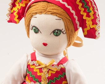Irina from Russia - Handmade Cloth Doll