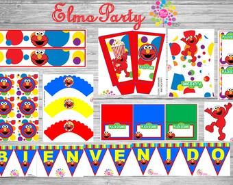 Elmo!!! Sesame street, Printable Party Set!!! Digital!!!DIY!!!