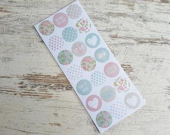 Round pastel stickers