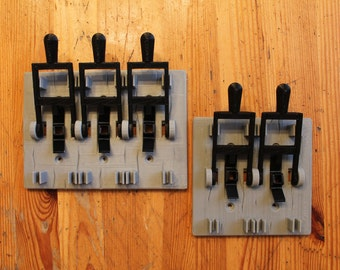 Double and Triple Mad Scientist Frankenstein Light Switch. Perfect for kids room and Halloween!