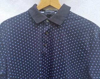 M Lands End Ink Dot Short Sleeve Polo Shirt