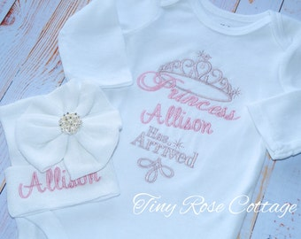 """Unique Princess """"Name"""" has arrived - The Princess has arrived - Embroidered Shirt/Body Suits"""