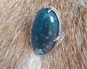 Bloodstone Jasper Ring