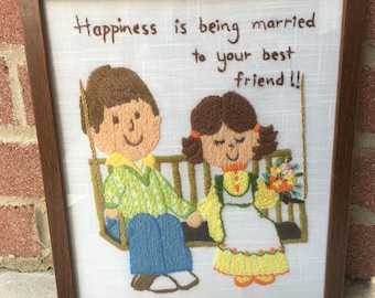 Framed Needle Point - Married Couple