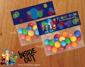 Inside Out Birthday Treat Bag Topper Favor Bag